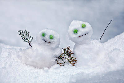 Snowmen Poster by Joana Kruse