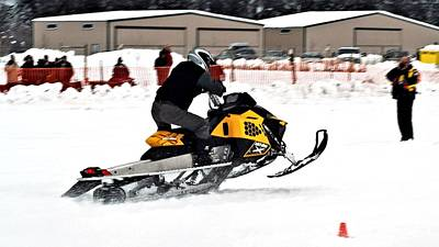 Snowmobile Drags Poster by Don Mann
