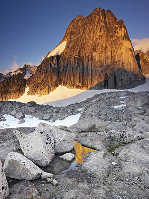 Snowpatch Spire At Sunrise Poster