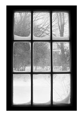 Snowstorm Outside The Windowpanes Poster