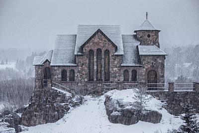 Snowy Church Poster by Darren  White