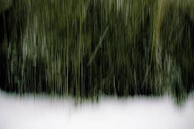 Snowy Day Abstract Poster
