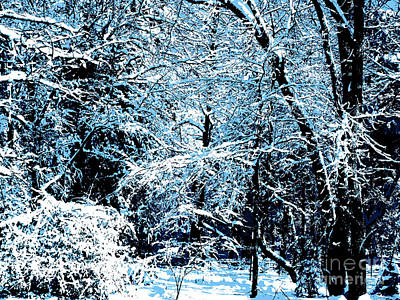 Snowy Day Landscape Poster
