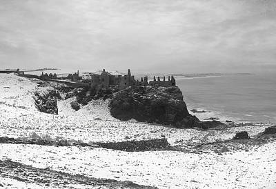 Poster featuring the photograph Snowy Dunluce 12/02/14 by Roy  McPeak