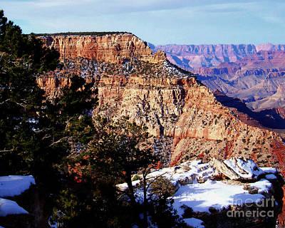Snowy Grand Canyon Vista Poster by Janice Sakry