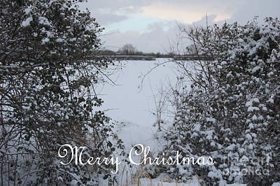 Snowy Heart For Christmas Poster by Linda Prewer