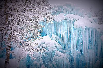 Snowy Ice Castle Poster