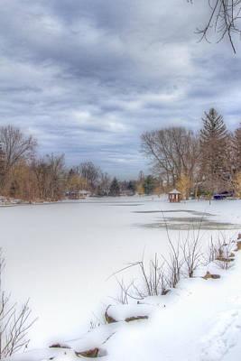Snowy Lake Poster