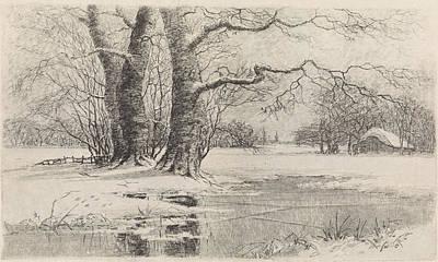 Snowy Landscape, Elias Stark Poster
