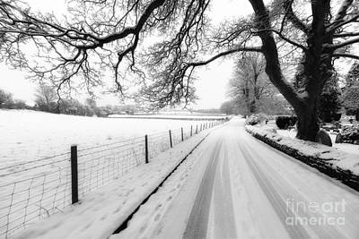 Snowy Lane Poster by Adrian Evans