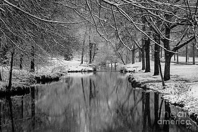 Snowy Little Sugar Creek  Poster by Robert Yaeger