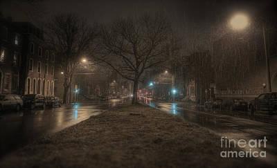 Snowy Nights Poster by Kenny  Noddin