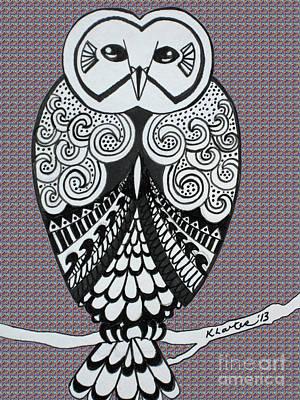 Snowy Owl Purple Poster