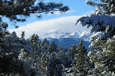 Snowy Pikes Peak Poster