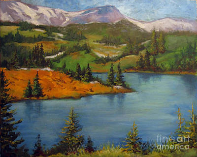 Poster featuring the painting Snowy Range by Carol Hart
