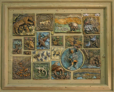 Poster featuring the sculpture Snowy Range Life - Large Panel by Dawn Senior-Trask
