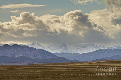 Snowy Rocky Mountains County View Poster
