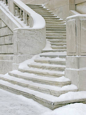 Snowy Steps Poster by Ann Horn