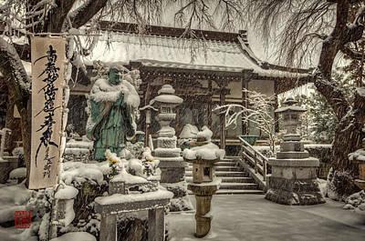 Snowy Temple Poster by John Swartz