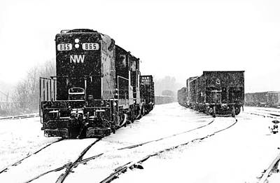 Poster featuring the photograph Snowy Yard by Mike Flynn