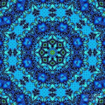 So Blue - 33 - Mandala Poster by Aimelle