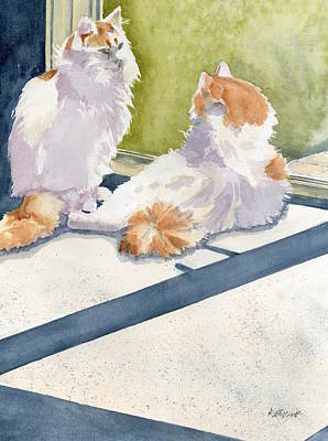 Soaking Up Some Rays Poster by Marsha Elliott
