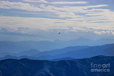 Soaring Over The Misty Andes Poster