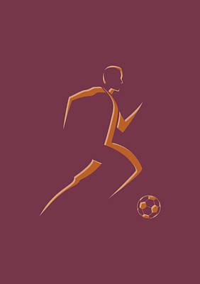 Soccer Player4 Poster by Joe Hamilton