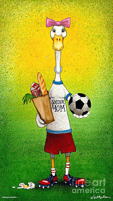 Soccermom... Poster by Will Bullas