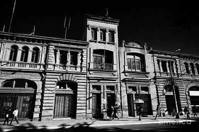 Sociedad Menendez Behety Building And Hernando De Magallanes Street Punta Arenas Chile Poster