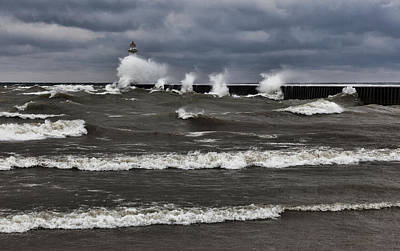 Poster featuring the photograph Sodus Waves by Chris Babcock