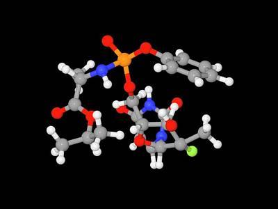 Sofosbuvir Hepatitis C Drug Molecule Poster by Dr Tim Evans