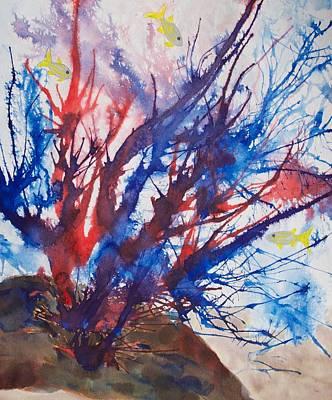 Soft Coral Splatter Poster