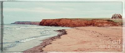 Soft Rain On The Beach Poster by Edward Fielding
