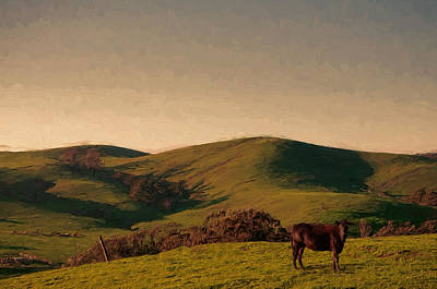 Soft Rolling Hills Poster