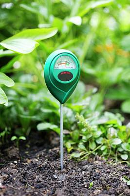 Soil Ph Meter Poster by Science Photo Library