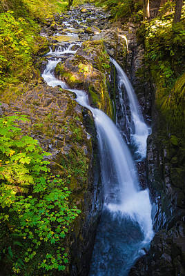 Sol Duc Falls - Waterfall Photograph Poster by Duane Miller