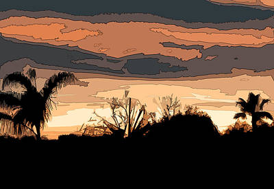 Poster featuring the digital art Solana Beach Sunset 2 by Kirt Tisdale