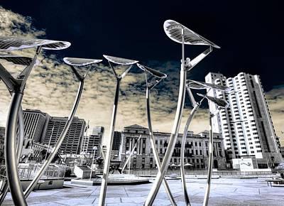 Solar City Poster by Wayne Sherriff