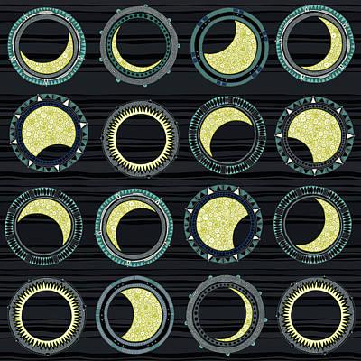 Solar Eclipse Mandala Poster