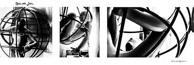 Poster featuring the photograph Solar Jail Triptych by Stwayne Keubrick