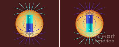 Solar Magnetic Pole Reversal Poster by John Chumack