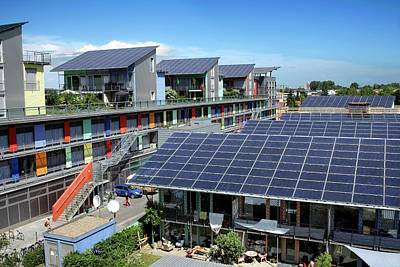 Solar Panels In Freiburg Poster by Martin Bond