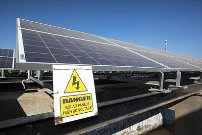 Solar Panels Providing Electricity Poster