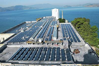Solar Power At Alcatraz Poster by National Park Service/us Department Of Energy