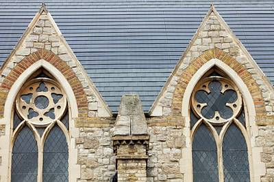 Solar Tiles On A Church Poster by Ashley Cooper