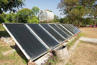 Solar Water Heating Panels Poster by Ashley Cooper
