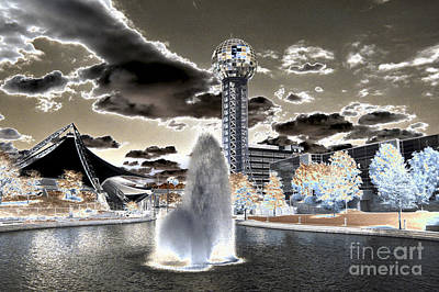 Solarized Infrared City Park Poster by Paul W Faust -  Impressions of Light