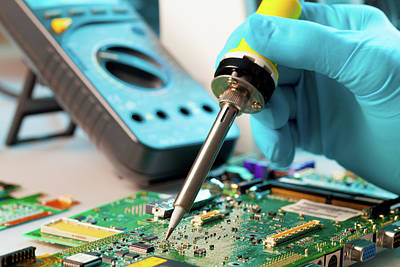 Soldering Microchip Poster