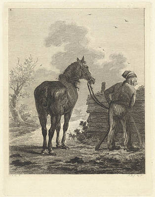 Soldier With Horse, Joannes Bemme, Jan Anthonie Langendijk Poster by Joannes Bemme And Jan Anthonie Langendijk Dzn